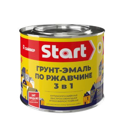 ГРУНТ ЭМАЛЬ ПО РЖАВЧИНЕ 3 В 1 «START»